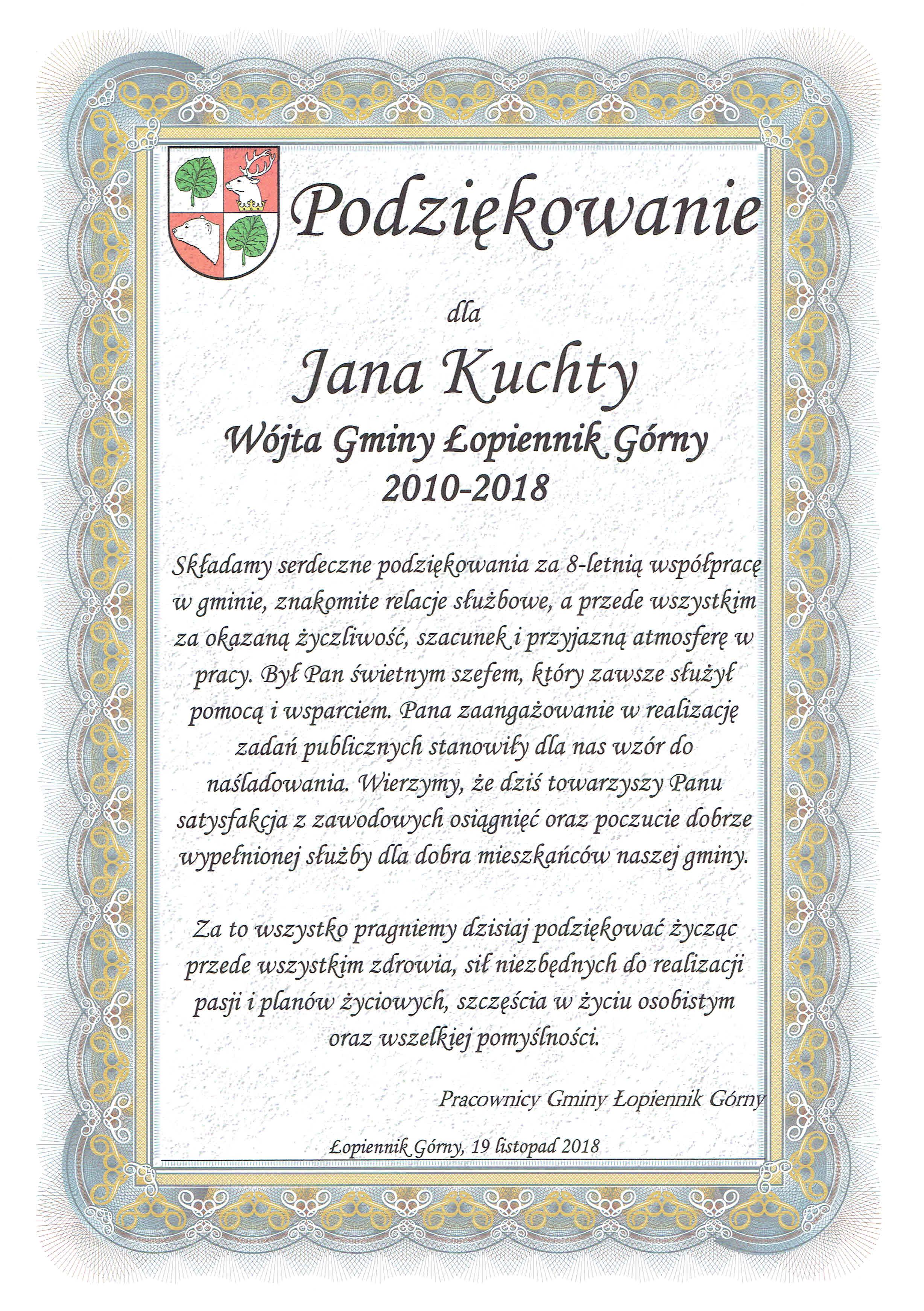 Gmina łopiennik Górny Zakończenie Vii Kadencji Rady Gminy