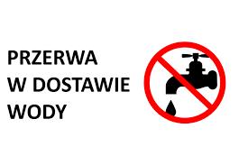 logo graficzne z napisem przerwa w dostawie wody