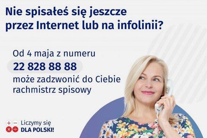 Od 4 maja br. pracę rozpoczynają rachmistrzowie telefoniczni.