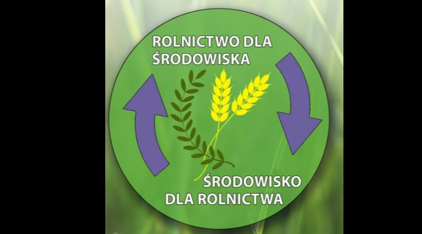 Logo z napisem: Rolnictwo dla środowiska środowisko dla rolnictwa