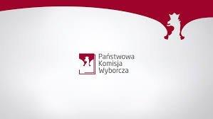 logo z napisem Państwowa Komisja Wyborcza