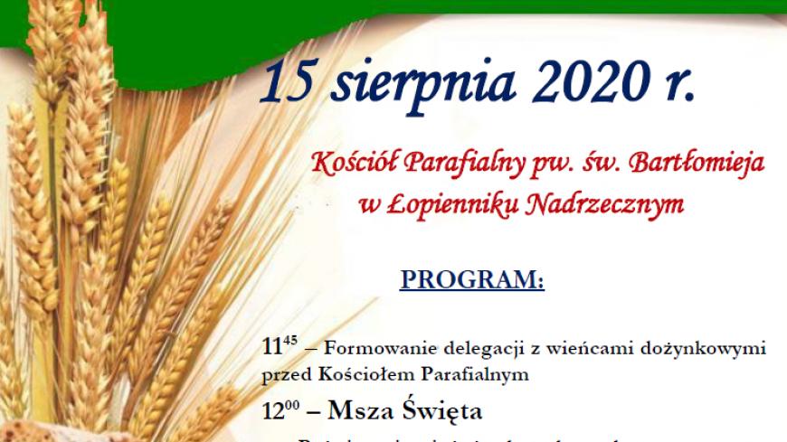 Dożynki Gminno-Parafialne 2020