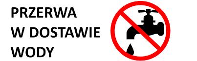 logo z napisem przerwa w dostawie wody