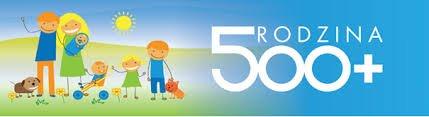 logo z grafiką rodzina 500+