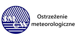 logo graficzne z napisem ostrzeżenia meteorologiczne
