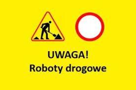 grafika z napisem uwaga roboty drogowe
