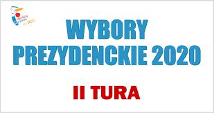 Logo z napisem wybory prezydenckie 2020 II tura