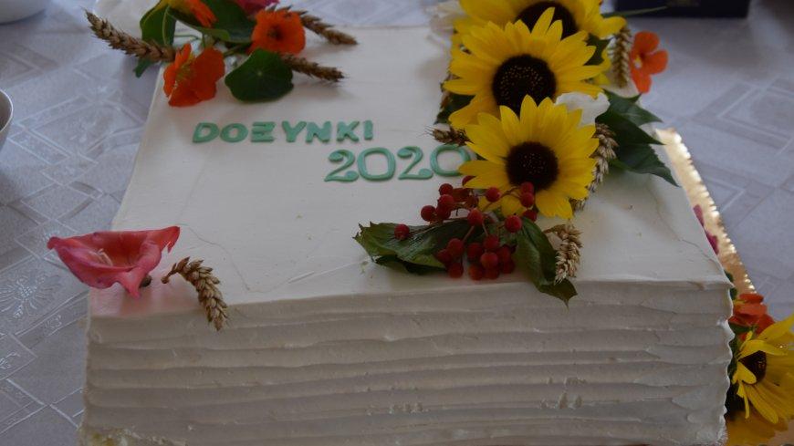 zdjęcie tortu z napisem dożynki 2020